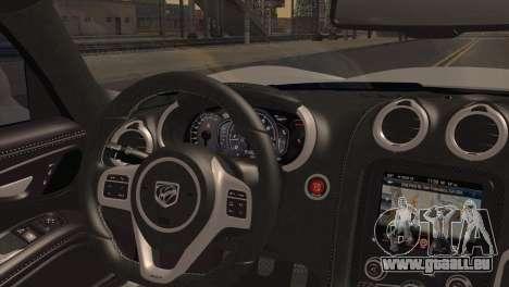 Dodge SRT Viper GTS 2012 pour GTA San Andreas sur la vue arrière gauche