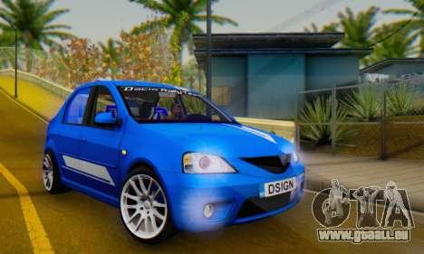 Dacia Logan Tuning Rally (B 48 CUP) pour GTA San Andreas vue intérieure