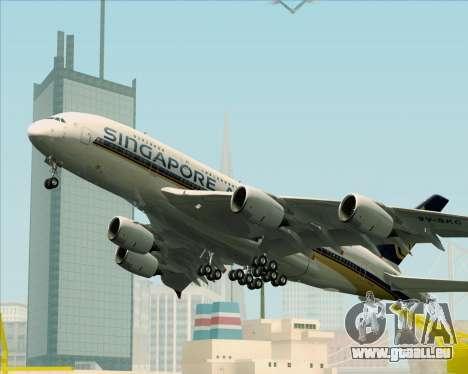 Airbus A380-841 Singapore Airlines für GTA San Andreas