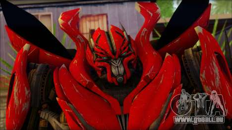 Dino Mirage (transformers Dark of the moon) v1 pour GTA San Andreas troisième écran