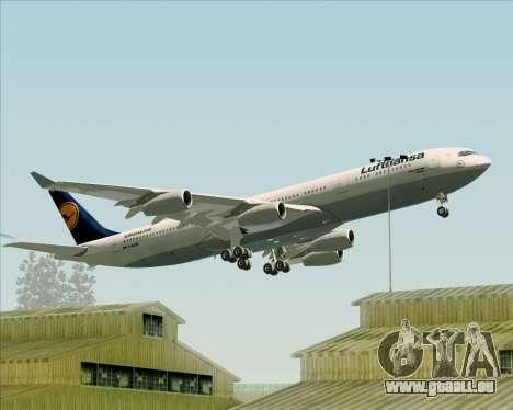 Airbus A340-313 Lufthansa für GTA San Andreas Räder