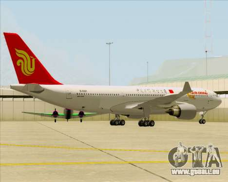 Airbus A330-200 Air China pour GTA San Andreas sur la vue arrière gauche