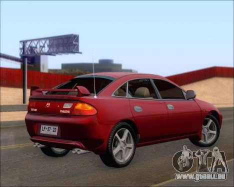 Mazda 323F 1995 pour GTA San Andreas sur la vue arrière gauche