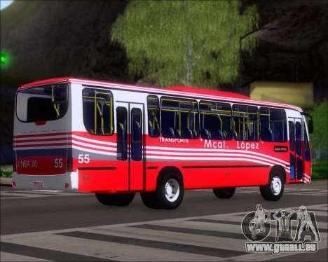 Neobus Spectrum Linea 38 Mcal. Lopez pour GTA San Andreas vue de droite
