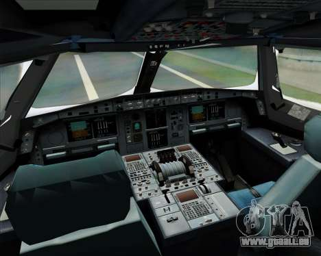 Airbus A380-841 Singapore Airlines für GTA San Andreas obere Ansicht