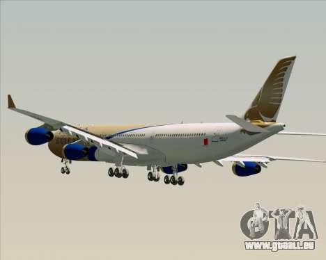 Airbus A340-313 Gulf Air pour GTA San Andreas roue
