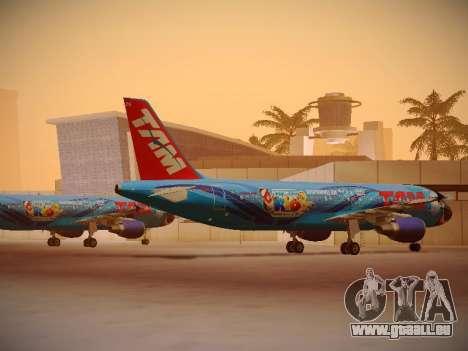 Airbus A320-214 TAM Airlines RIO pour GTA San Andreas vue de droite