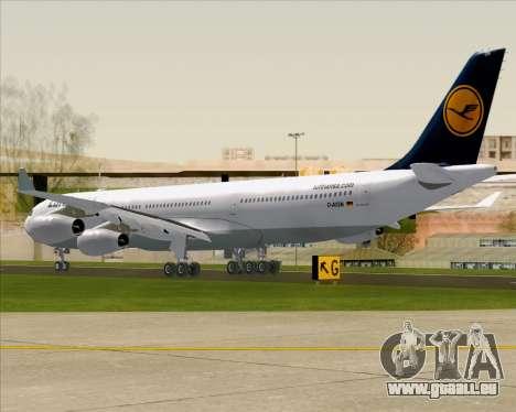 Airbus A340-313 Lufthansa für GTA San Andreas rechten Ansicht