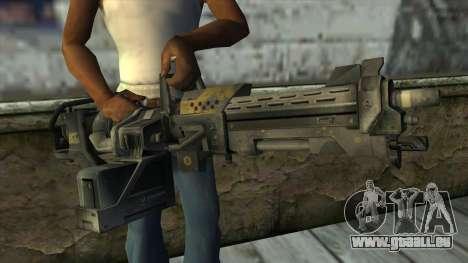 M247 Machine Gun Jorge Of Halo Reach pour GTA San Andreas troisième écran