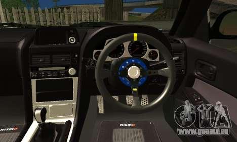 Nissan Skyline GTR R34 pour GTA San Andreas sur la vue arrière gauche
