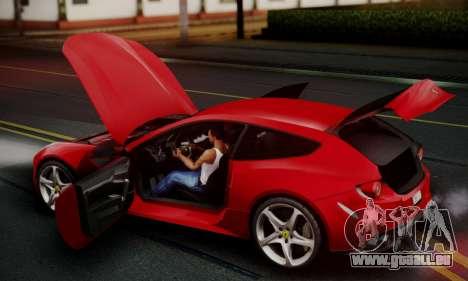 Ferrari FF 2012 pour GTA San Andreas vue intérieure