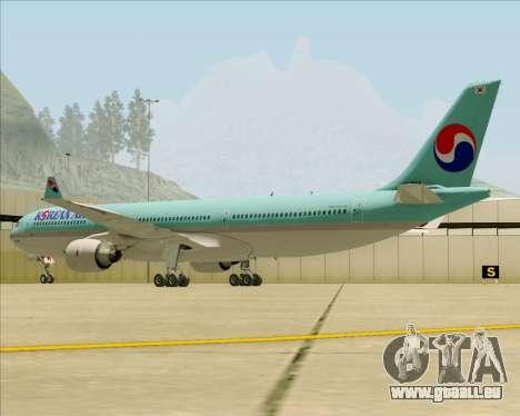 Airbus A330-300 Korean Air für GTA San Andreas Rückansicht