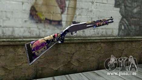 Graffiti Shotgun v3 pour GTA San Andreas deuxième écran