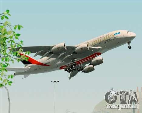 Airbus A380-841 Emirates für GTA San Andreas Innenansicht