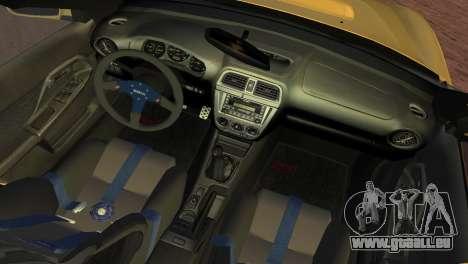 Subaru Impreza WRX 2002 Type 1 pour GTA Vice City vue arrière