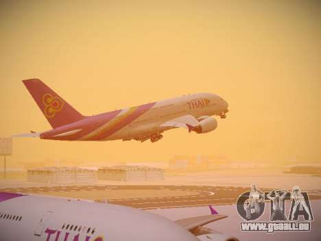 Airbus A380-800 Thai Airways International pour GTA San Andreas salon