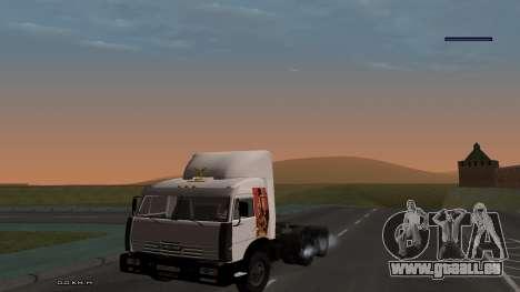 KamAZ-54115 für GTA San Andreas Innenansicht