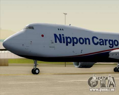 Boeing 747-8 Cargo Nippon Cargo Airlines pour GTA San Andreas vue intérieure