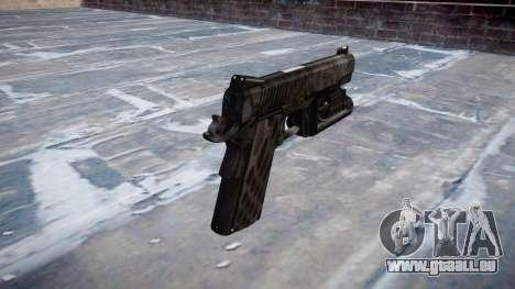 Pistolet Kimber 1911 Kryptek Typhon pour GTA 4 secondes d'écran