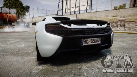 McLaren 650S Spider 2014 [EPM] KUMHO für GTA 4 hinten links Ansicht