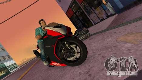 Aprilia RSV4 2009 Original für GTA Vice City Rückansicht