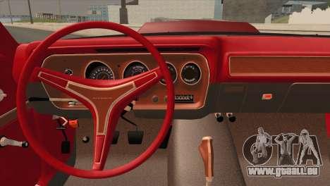 Plymouth GTX Tuned 1972 v2.3 für GTA San Andreas Rückansicht