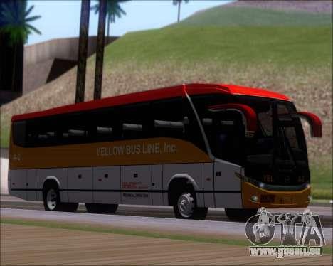 Marcopolo Paradiso G7 1050 Yellow Bus Line A-2 pour GTA San Andreas laissé vue