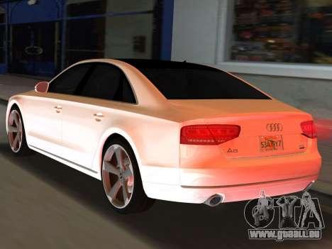 Audi A8 2010 W12 Rim3 pour une vue GTA Vice City de la gauche