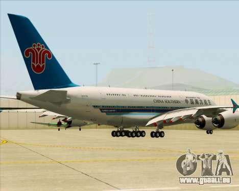 Airbus A380-841 China Southern Airlines für GTA San Andreas zurück linke Ansicht