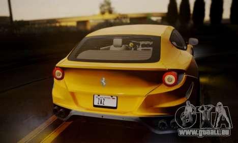 Ferrari FF 2012 pour GTA San Andreas sur la vue arrière gauche