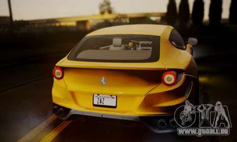 Ferrari FF 2012 für GTA San Andreas zurück linke Ansicht