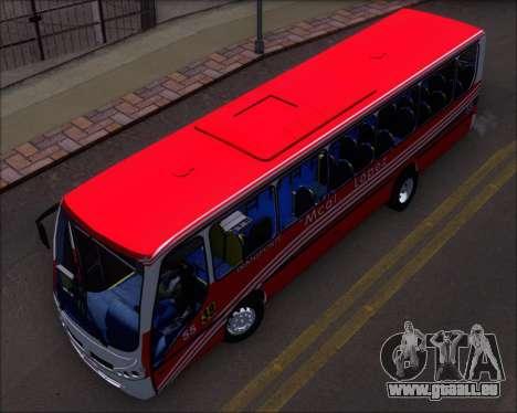 Neobus Spectrum Linea 38 Mcal. Lopez pour GTA San Andreas vue intérieure
