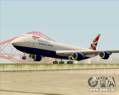 Boeing 747-8 Cargo British Airways World Cargo für GTA San Andreas linke Ansicht