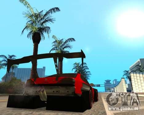 Slivia Red Planet pour GTA San Andreas sur la vue arrière gauche