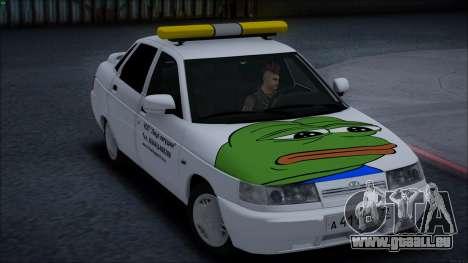 VAZ 2110 Gesicht Frosch für GTA San Andreas linke Ansicht