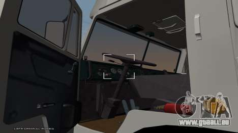KamAZ-54115 für GTA San Andreas zurück linke Ansicht