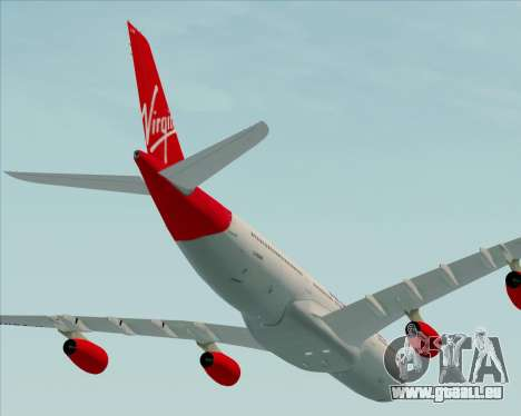 Airbus A340-313 Virgin Atlantic Airways für GTA San Andreas Seitenansicht