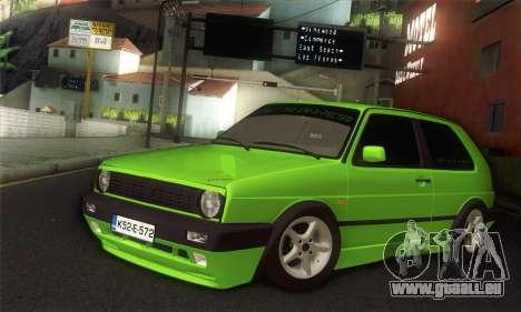 Volkswagen Golf Mk2 Zelengija für GTA San Andreas