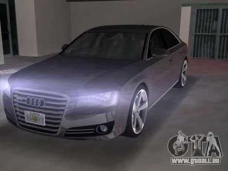Audi A8 2010 W12 Rim3 für GTA Vice City zurück linke Ansicht