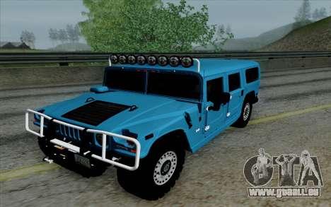 Hummer H1 Alpha 2006 Road version für GTA San Andreas Rückansicht