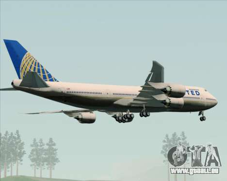 Boeing 747-8 Intercontinental United Airlines für GTA San Andreas obere Ansicht