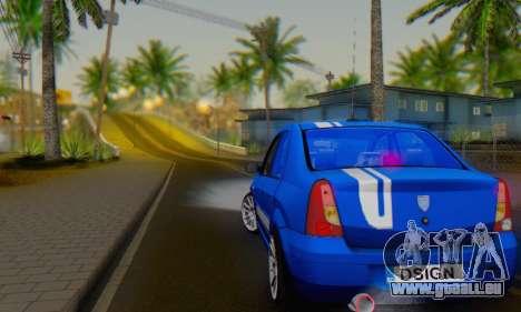 Dacia Logan Tuning Rally (B 48 CUP) pour GTA San Andreas vue de droite