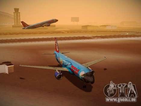 Airbus A320-214 TAM Airlines RIO pour GTA San Andreas laissé vue