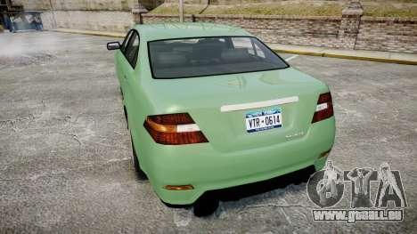 GTA V Vapid Taurus pour GTA 4 Vue arrière de la gauche