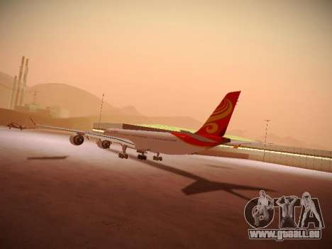 Airbus A340-600 Hainan Airlines pour GTA San Andreas vue intérieure