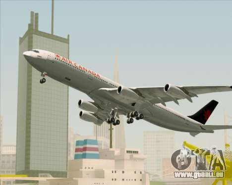 Airbus A340-313 Air Canada für GTA San Andreas obere Ansicht