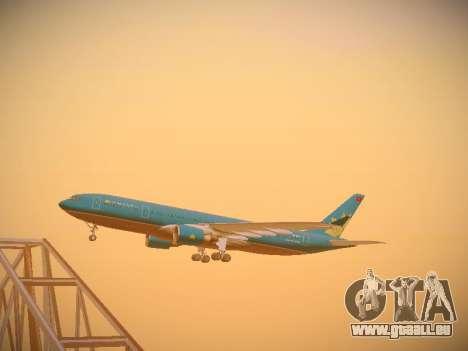 Airbus A330-200 Vietnam Airlines pour GTA San Andreas vue intérieure