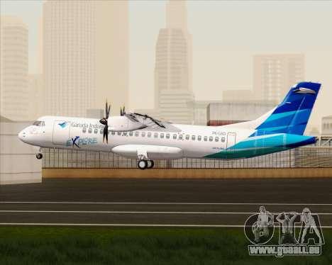 ATR 72-500 Garuda Indonesia Explore pour GTA San Andreas vue de droite