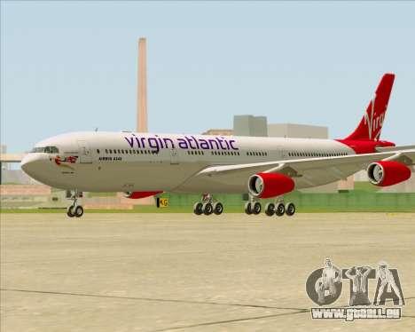 Airbus A340-313 Virgin Atlantic Airways für GTA San Andreas rechten Ansicht