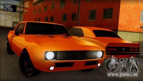 Chevrolet Camaro SS 1967 pour GTA San Andreas